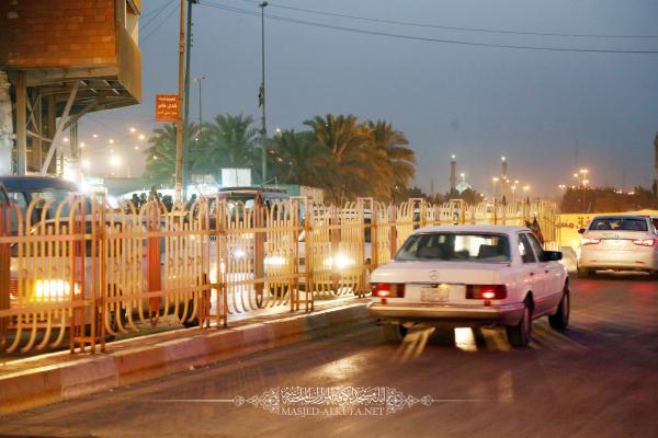 إنجاز السياج الحديدي على نفق السفير من قبل الكوادر الفنية والهندسية