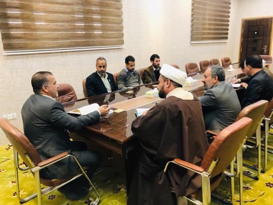 امين مسجد الكوفة يناقش استعدادات إقامة المسابقة القرآنية للجامعات