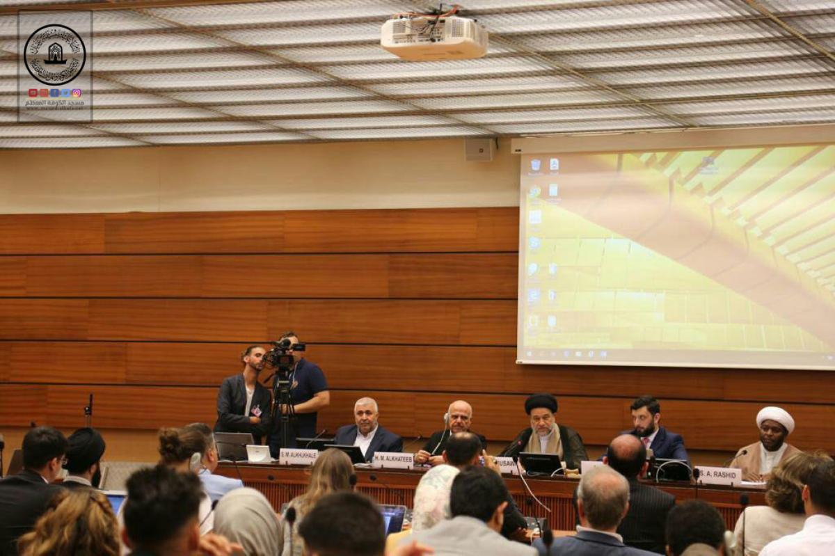 الموسوي من جنيف : هل يمكن لبشر غير الإمام علي (ع) أن يكتب لائحة لحقوق الإنسان