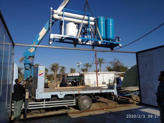 مزرعة السفير الثانية تنصِّب منظومة مياه للتخلص من أملاح مياه الآبار وزيادة الانتاج