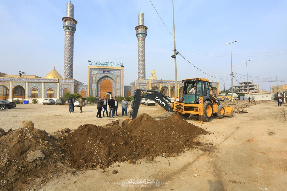المباشرة بمد خط الجهد العالي لتزويد صحن الإمام الجواد (عليه السلام) جوار مسجد الكوفة المعظم